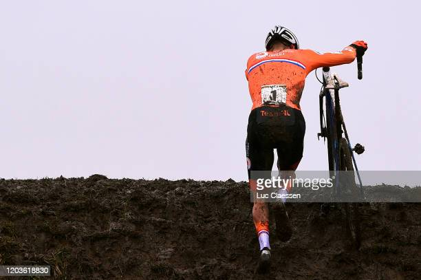 Mathieu Van Der Poel of The Netherlands / Mud / during the 71st Cyclocross World Championships Dübendorf 2020 - Men Elite / @UCI_CX / #Dubendorf2020...