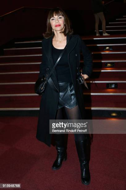 Mathilda May attends the Alex Lutz One Man Show At L'Olympia on February 8 2018 in Paris France