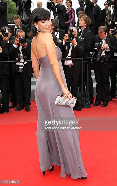 Mathilda May attends the 'Outside the Law' Premiere at the Palais des Festivals during the 63rd Annual International Cannes Film Festival on May 21...