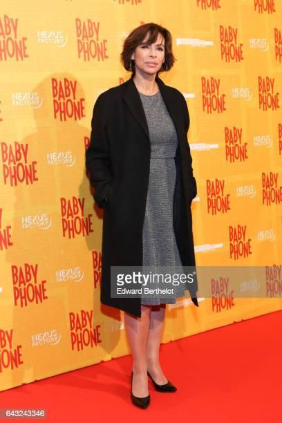 Mathilda May during Baby Phone Paris Premiere at Cinema UGC Normandie on February 20 2017 in Paris France