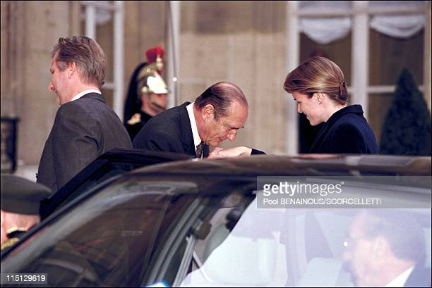 Mathilde and Philippe of Belgium's royal visit in Paris first day in Paris France on March 26 2001 At the Elysee Palace