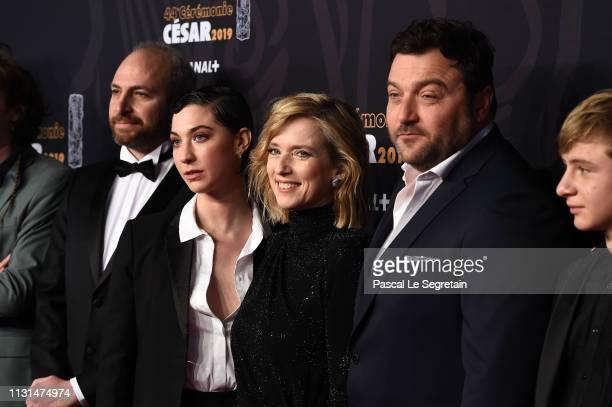 Mathilde Auneveux Lea Drucker Denis Menochet and Thomas Gioria arrive at the Cesar Film Awards 2019 at Salle Pleyel on February 22 2019 in Paris...
