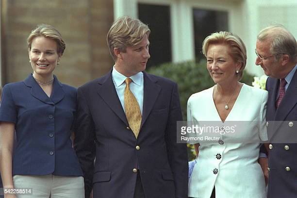 Mathilde d'Udekem d'Acoz Prince Philippe Queen Paola and King Albert II