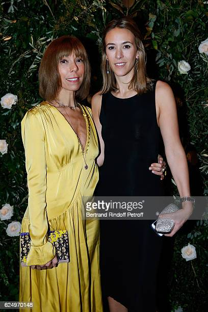 Mathilde Favier and AnneCharlotte Houze attend the Diner des amis de Care for the 70th anniversary of the Association Held at Espace Cambon on...