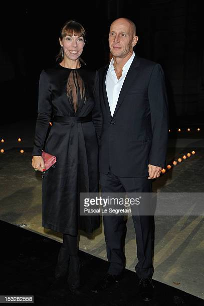 Mathilde Favier and Anthony Meyer attends LE BAL hosted by MAC and Carine Roitfeld as part of Paris Fashion Week Spring / Summer 2013 at Hotel...