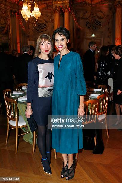 Mathilde Favier and Farida Khelfa attend the dinner party of the Societe Des Amis Du Musee D'Orsay at Musee d'Orsay on March 24 2014 in Paris France