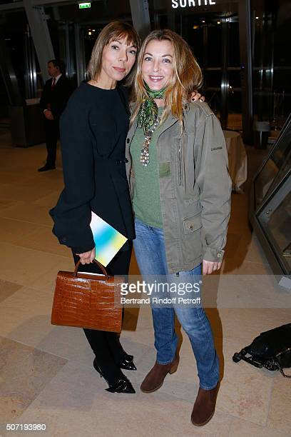 Mathilde Favier and Galerist Arabelle ReilleMahdavi attend the 'Bentu' Exhibition at the Louis Vuitton Foundation Coorganized with the 'Ullens Center...
