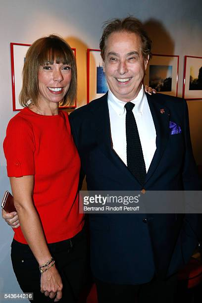 """Mathilde Favier and Gilles Dufour attend the Private View of """"Francoise Sagan, Photographer"""" : Photo Exhibition at Galerie Pierre Passebon on June..."""