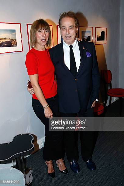 Mathilde Favier and Gilles Dufour attend the Private View of Francoise Sagan Photographer Photo Exhibition at Galerie Pierre Passebon on June 29 2016...