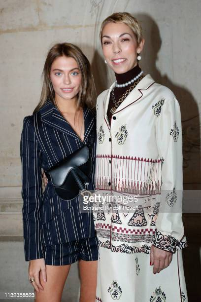 Mathilde Favier and her daughter Heloise Agostinelli attend the Christian Dior show as part of the Paris Fashion Week Womenswear Fall/Winter...