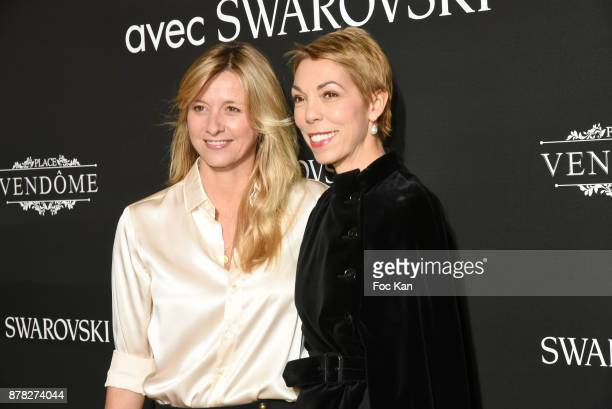 Mathilde Favier Meyer and interior designer Sarah Lavoine attend the 'Vogue Fashion Festival' Opening Dinner on November 23 2017 in Paris France