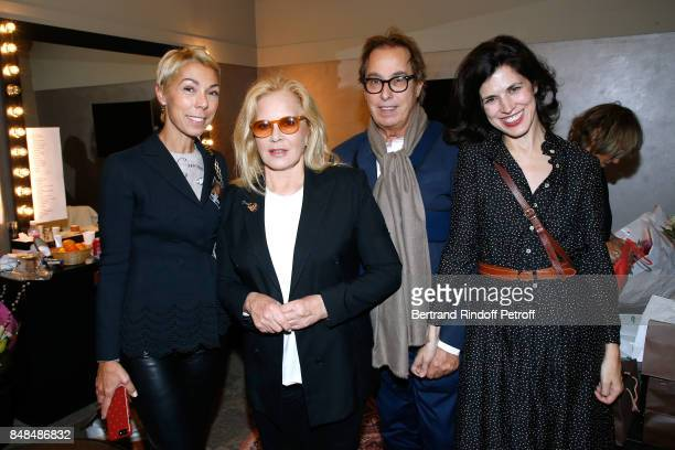 Mathilde Favier Sylvie Vartan Gilles Dufour and Vanessa Seward attend Sylvie Vartan performs at L'Olympia on September 15 2017 in Paris France