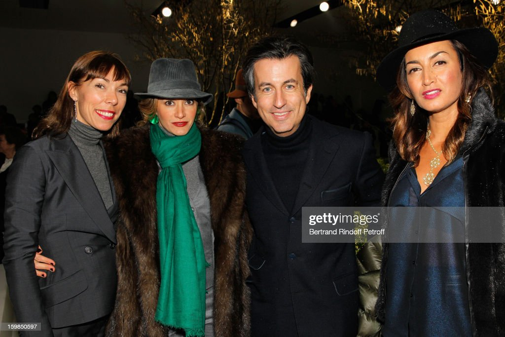 Mathilde Favier, Ulla Parker, Cyril Karaoglan and Maria Buccellati attend the Christian Dior Spring/Summer 2013 Haute-Couture show as part of Paris Fashion Week at on January 21, 2013 in Paris, France.