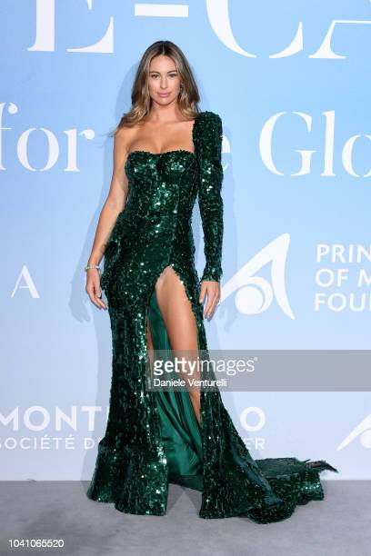 Mathilde Goehler attends the Gala for the Global Ocean hosted by HSH Prince Albert II of Monaco at Opera of MonteCarlo on September 26 2018 in...