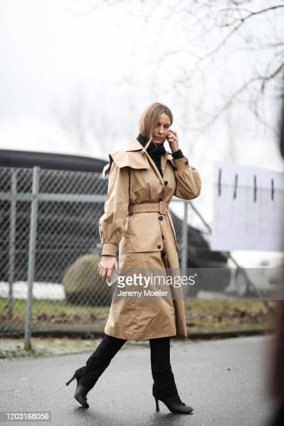 Mathilde Gohler before Lala Berlin on January 30, 2020 in Copenhagen, Denmark.