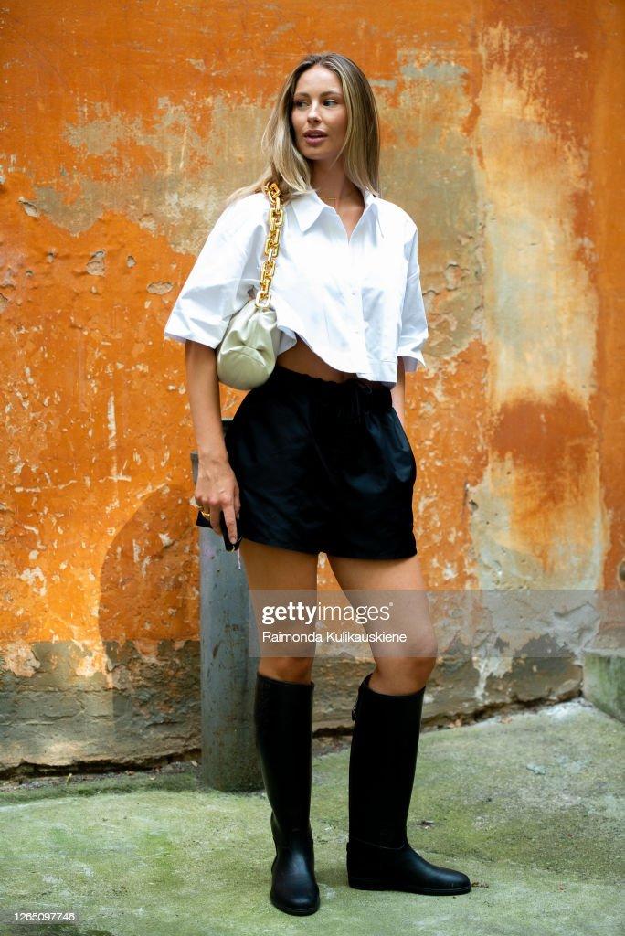 Street Style - Day 2 - Copenhagen Fashion Week Spring/Summer 2021 : Photo d'actualité