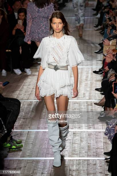 Mathilde Henning walks the runway during the Isabel Marant Womenswear Spring/Summer 2020 show as part of Paris Fashion Week on September 26 2019 in...
