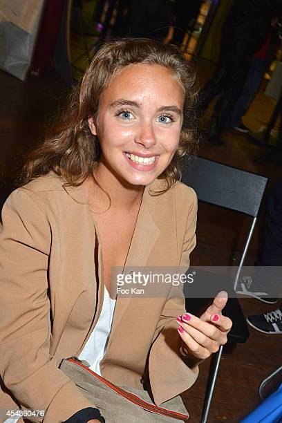 Mathilde Laffont daughter of Patrice Laffont attends the 'Fete A Neu Neu' At Porte De La Muette on August 29 2014 in Paris France