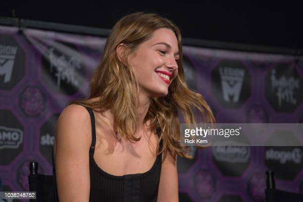Mathilde Ollivier at the QA after the World Premiere of 'Overlord' during the 2018 Fantastic Fest Film Festival on September 22 2018 in Austin Texas