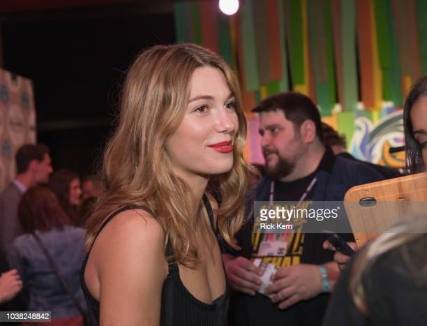 Mathilde Ollivier attends the World Premiere of 'Overlord' during the 2018 Fantastic Fest Film Festival on September 22 2018 in Austin Texas