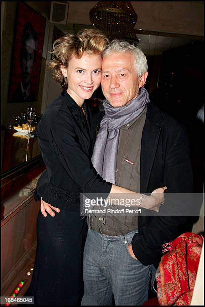 Mathilde Penin and Jean Luc Moreau party at place de l'Etoile for the 50th representation of the play Pierre Et Fils