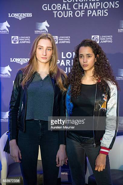Mathilde Pinault attends the 3rd Longines Paris Eiffel Jumping press conference on May 24 2016 in Paris France