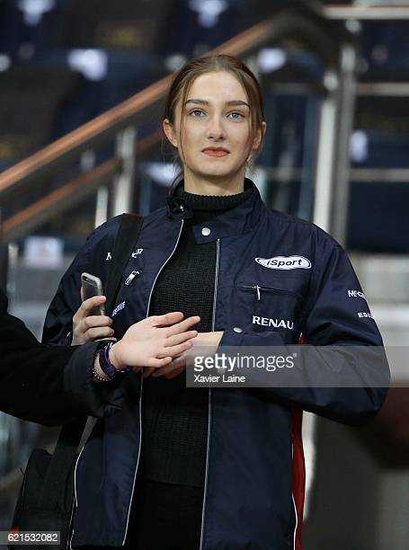 Mathilde Pinault attends the French Ligue 1 match between Paris SaintGermain and Stade Rennes FC at Parc des Princes on November 6 2016 in Paris...