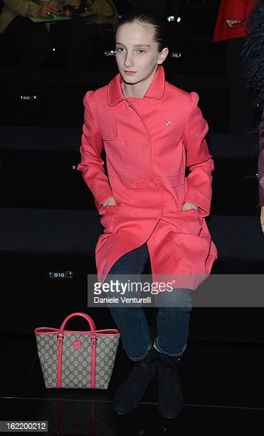 Mathilde Pinault attends the Gucci fashion show as part of Milan Fashion Week Womenswear Fall/Winter 2013/14 on February 20 2013 in Milan Italy