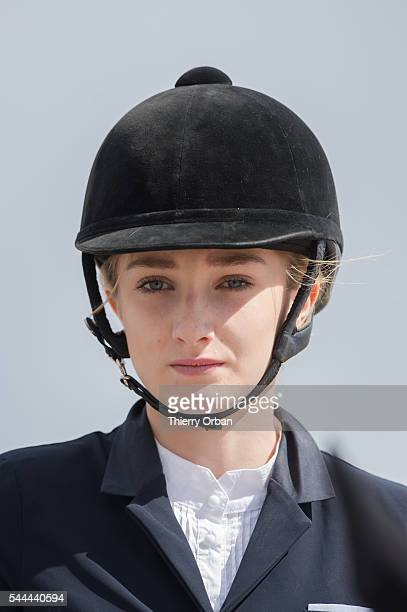 Mathilde Pinault daughter of FrancoisHenri Pinault competes at the Paris Eiffel Jumping 2016 held at Parc de Bagatelle on July 2 2016 in Paris France