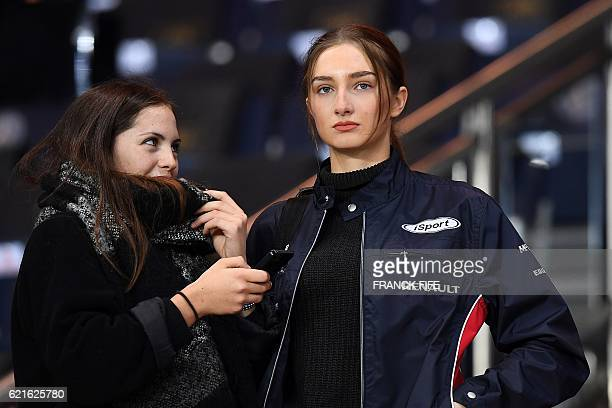 Mathilde Pinault daughter of French businessman FrançoisHenri Pinault attends the French L1 football match between Paris SaintGermain and Rennes at...