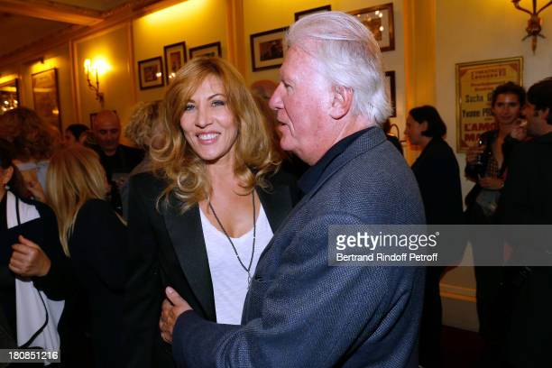 Mathilde Seigner and her father JeanLouis Seigner after 'Nina' Premiere at Theatre Edouard VII on September 16 2013 in Paris France