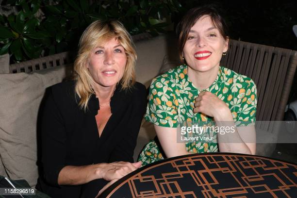 Mathilde Seigner and Valerie Donzelli attend the Millesime Champagne Rose 2008 By Maison Piper Heidsieck : Launch Party At Pavillon De La Reine Place...
