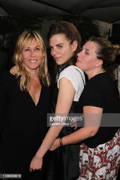 Mathilde Seigner her Niece Morgane Polanski and her sister Marie Amelie Seigner attend the Millesime Champagne Rose 2008 By Maison Piper Heidsieck...