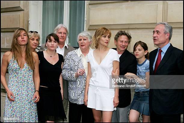 Mathilde Seigner Marie Amelie Seigner Jean Louis Seigner Francoise Seigner Emmanuelle Seigner Roman Polanski daughter Morgane and Jean Tiberi at...