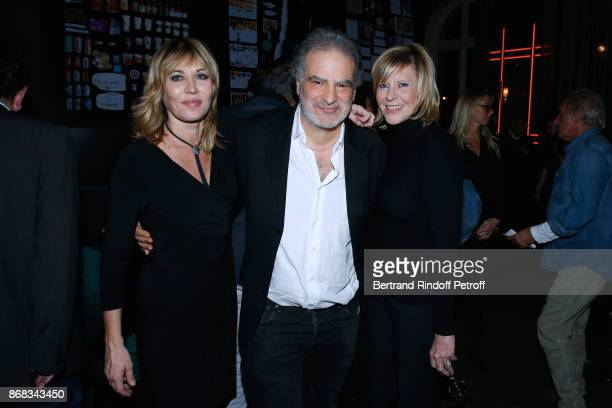 Mathilde Seigner Raphael Mezrahi and Chantal Ladesou attend Claude Lelouch celebrates his 80th Birthday at Restaurant Victoria on October 30 2017 in...