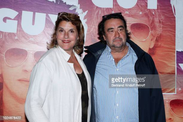 Mathilde Vitry and Philippe Gautier attend the Guy Paris Premiere at Gaumont Capucines on August 28 2018 in Paris France