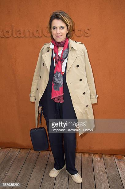 Mathilde Vitry attends day thirteen of the 2016 French Openat Roland Garros on June 3 2016 in Paris France
