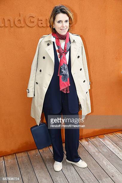 Mathilde Vitry attends the French Tennis Open Day Thirteen at Roland Garros on June 3 2016 in Paris France