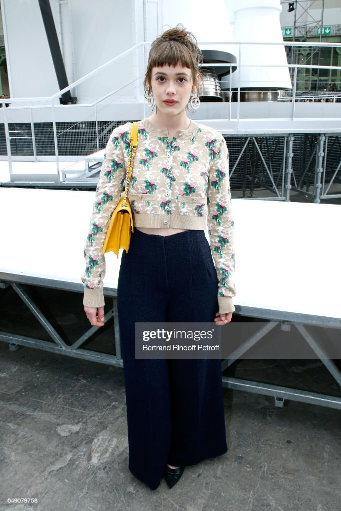 Mathilde Warnier attends the Chanel show as part of the Paris Fashion Week Womenswear Fall/Winter 2017/2018 on March 7, 2017 in Paris, France.
