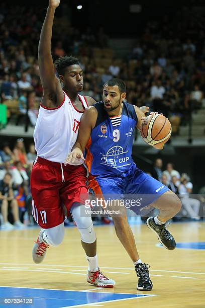 Mathis Keita of Gravelines and Marc Kwedi of Strasbourg during the Final match between Strasbourg and Gravelines Dunkerque at Tournament ProStars at...