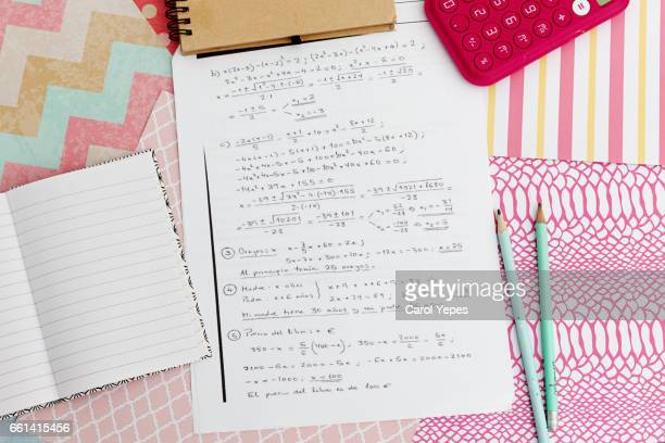 maths exams - homeschool stock photos and pictures