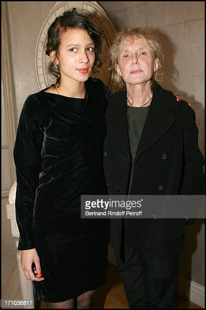 Mati Diop and godmother Claire Denis at The Diner Des Revelations 2010 Organised By The Cesar Academy .