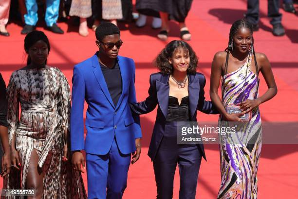 """Mati Diop and the Cast of Atlantics attend the screening of """"Atlantics """" during the 72nd annual Cannes Film Festival on May 16, 2019 in Cannes,..."""