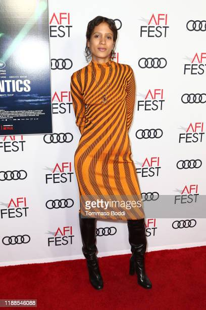 Mati Diop attends the AFI FEST 2019 Presented By Audi – Atlantics Premiere at TCL Chinese 6 Theatres on November 18 2019 in Hollywood California