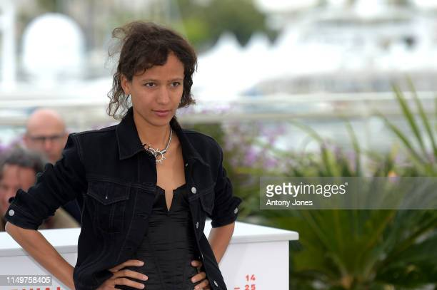 "Mati Diop attends the ""Atlantics "" Photocall during the 72nd annual Cannes Film Festival on May 17, 2019 in Cannes, France."