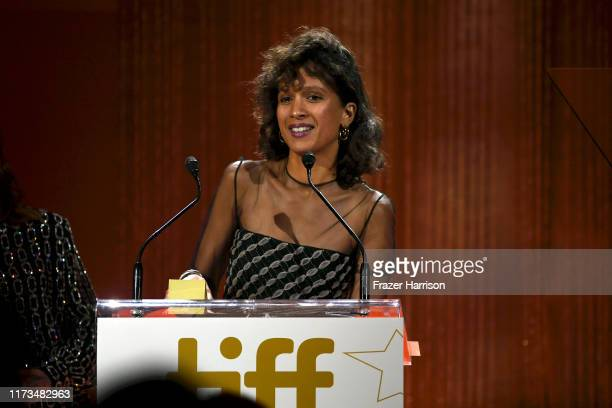 Mati Diop receives the Mary Pickford Award Supported by MGM during the 2019 Toronto International Film Festival TIFF Tribute Gala at The Fairmont...