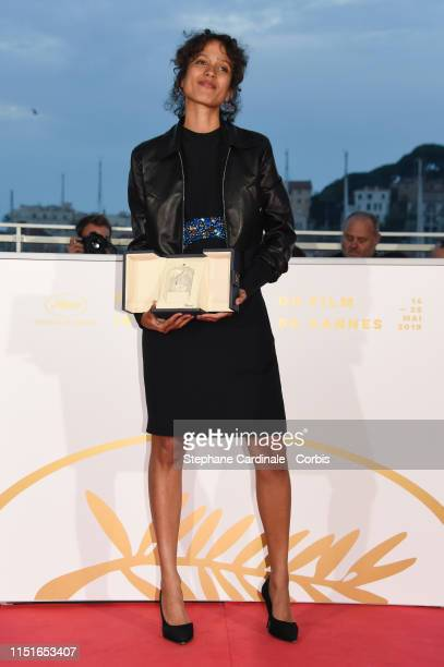 Mati Diop winner of the Grand Prix Award for the film Atlantique poses at thephotocall for Palme D'Or Winner during the 72nd annual Cannes Film...