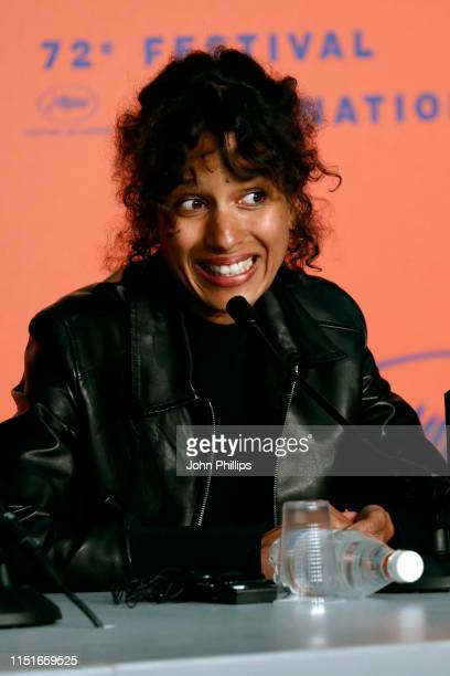 Mati Diop winner of the Grand Prix Award for the film Atlantique attends the Closing Ceremony Press Conference during the 72nd annual Cannes Film...