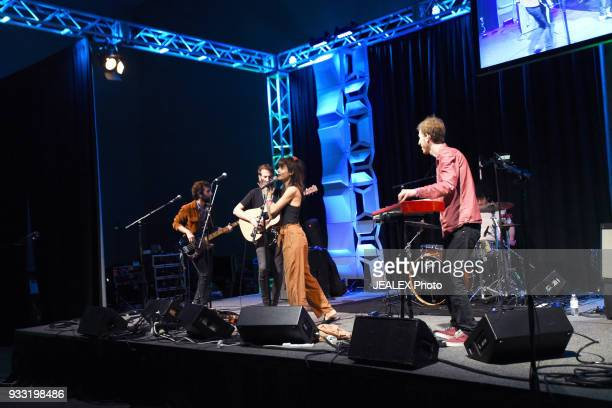 Mati Gilad Gil Landau Yael Shoshana Cohen and Rami Osservaser of Lola Marsh perform onstage at International Day Stage during SXSW on March 17 2018...