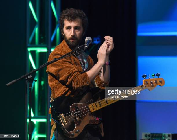 Mati Gilad of Lola Marsh performs onstage at International Day Stage during SXSW on March 17 2018 in Austin Texas